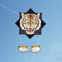 Бесплатная доставка сплетни воздушный змей с тигром муха для наружных игрушек парашют воздушные змеи Орел латавец катушка мультфильм Детс...
