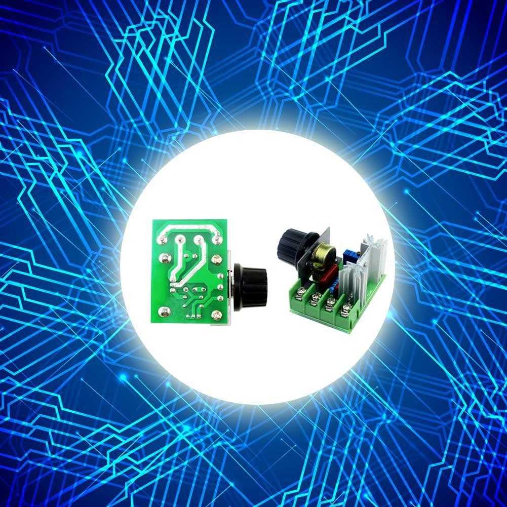 2000W voltage regulator <font><b>ac</b></font> 220V motor speed control brushless electronic <font><b>thyristor</b></font> dimmer temperature control <font><b>switch</b></font> image