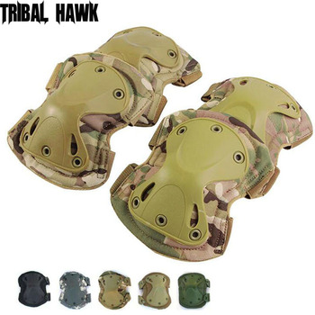 Ejército táctico codo rodilleras militar Guerra Airsoft policía entrenamiento combate caza rodilla apoyo equipo de protección de seguridad