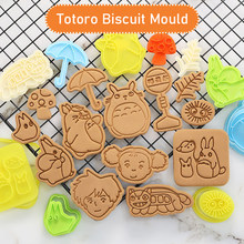 Kawaii 2020 Totoro Cookies Mold Cartoon Anime Baking Accessories Christmas Children Gift Full Set 3D Pressing Biscuit Mould