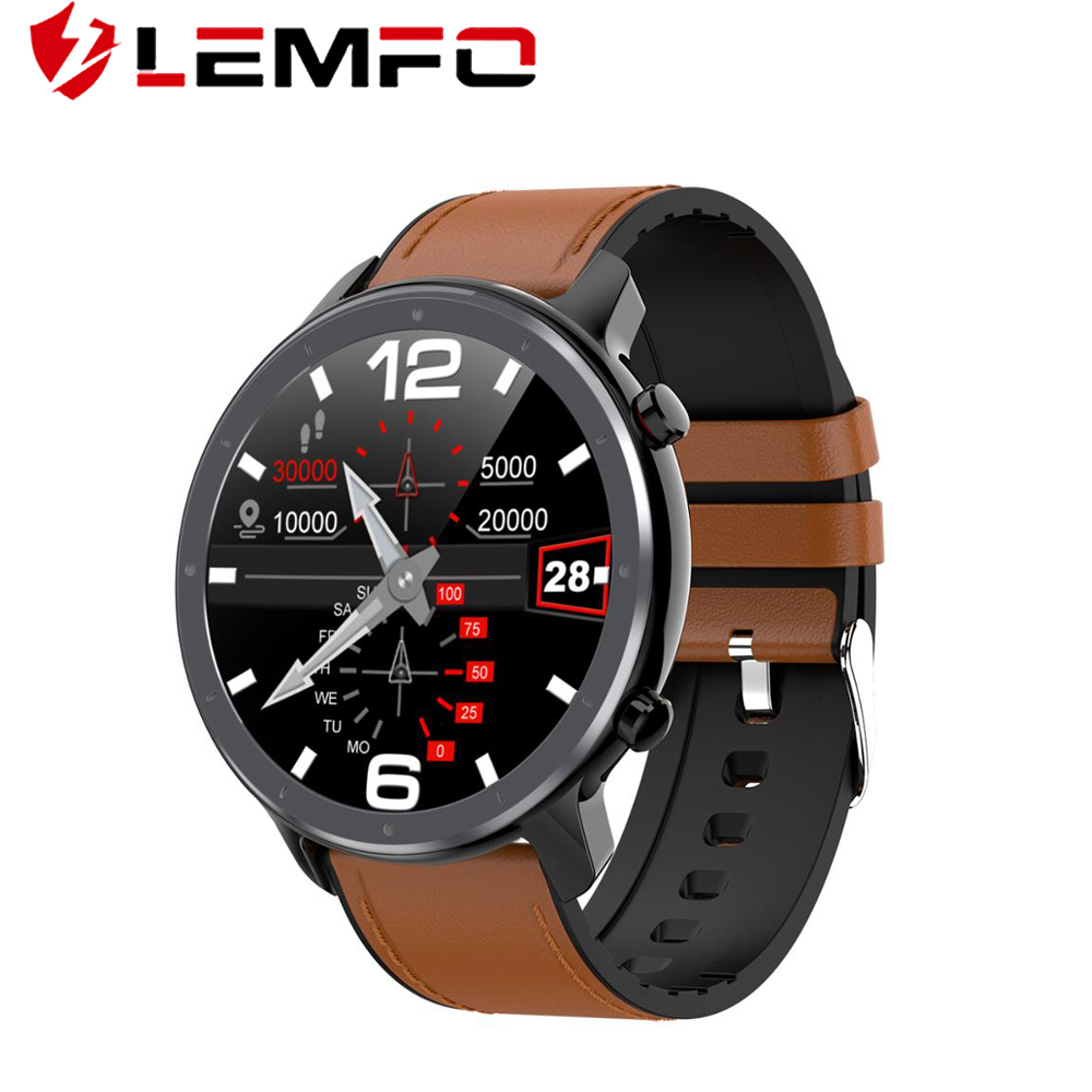 LEMFO Smart Watch Men ECG Heart Rate Blood Pressure Monitor 1.3 inch Full Screen Touch IP68 Waterproof Smartwatch|Smart Watches| - AliExpress