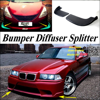 Car Splitter Diffuser Bumper Canard Lip For BMW 3 M3 E30 E36 E46 Tuning Body Kit / Front Deflector Car Fin Chin Reduce Body image