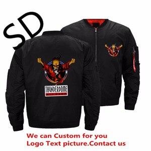 Dropshipping eua tamanho thunderdome morrer duro jaqueta homem heavy metal hip hop bombardeiro jaquetas e casacos ropa hombre roupas personalizadas