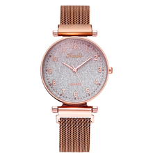 Reloj Mujer Luxury Magnetic Belt Watches for Women Stylish Gradient Color Starry Sky Gold Ladies Watch Fashion Dress Wristwatch stylish short sleeve letter pattern starry sky print dress for women