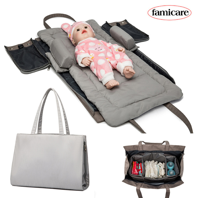 Baby Removable Bed Diaper Bag Maternity Mommy Totes Bags  Travel Bed Portable Bed in Bed Cradle Nest Mattress Bag Hobos