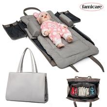 Bebek çıkarılabilir yatak bezi çanta analık anne tote çanta seyahat yatağı taşınabilir yatak in yatağı beşiği yuva yatak çantası hobos