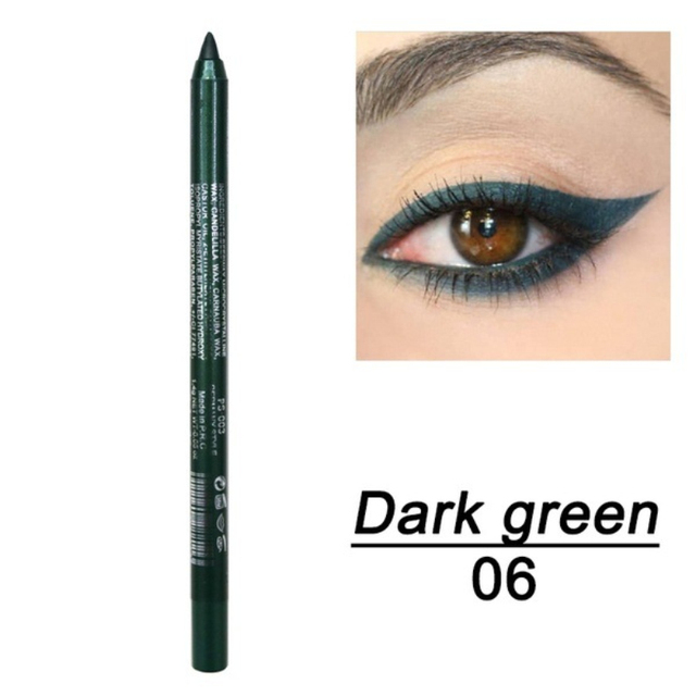 New Eye Liner Pencil Long-lasting Waterproof Pigment Green Brown Black Eyeiner Pen Women Fashion Color Eye Makeup
