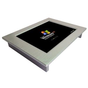 Tout en un pc sans ventilateur 10.4 pouces montage mural écran tactile mini panneau industriel PC avec écran LCD et fente pour carte SIM