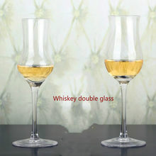 90ml Whisky Tasting Cup Lead-free Glass Whiskey Glass Red Wine Glass Shot Glass Sommelier Special Cup Goblet Smelling Cup(China)