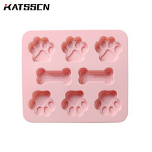 Cartoon dog claw and bone pattern silicone chocolate mold baking accessories cake baking mold handmade ice mold cake mold