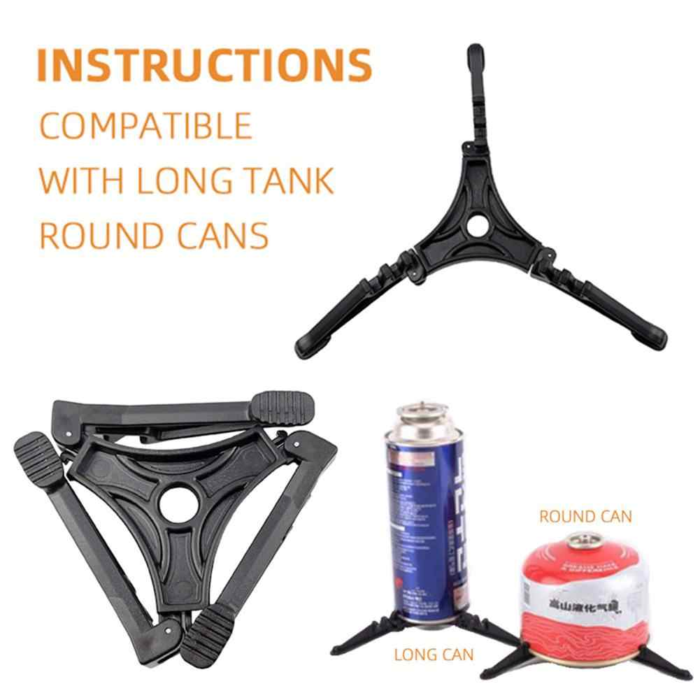 1x Foldable Outdoor Camping Gas Tank Stove Cartridge Canister Stand Tripod Tools