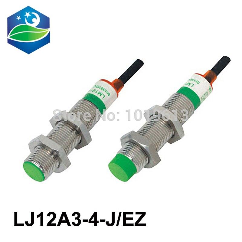 5 stücke LJ12A3-4-J/EZ M12 2 draht KEINE näherungsschalter AC90V-250V induktive näherungsschalter