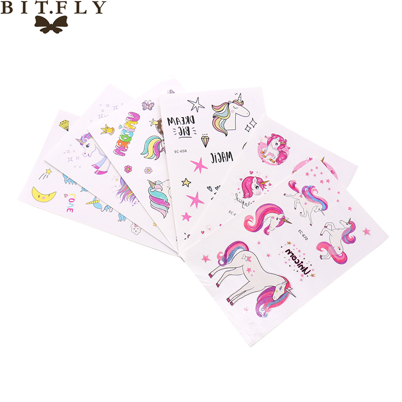 7.5x12cm Bridesmaid team Unicorn Temporary tattoo Bachelorette party decoration body sticker wedding Temporary tattoo sticker