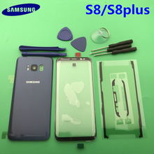 Neue Original Frontscheibe Glas Objektiv Samsung Galaxy s8 rand G950 S8 plus G955 Hinten Batterie Abdeckung Tür Zurück Gehäuse mit Klebstoff