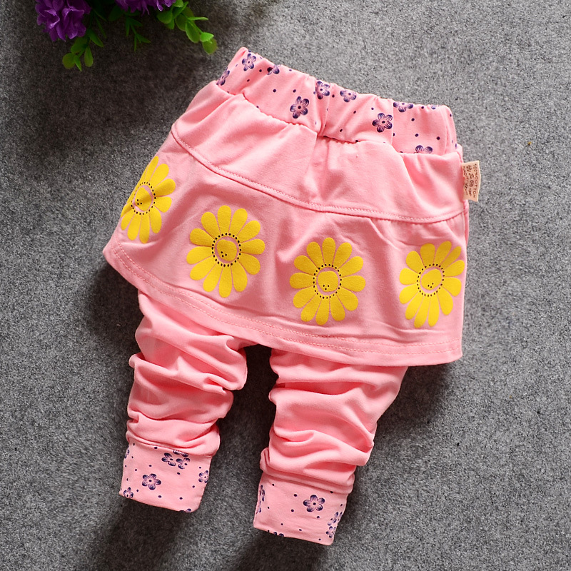 Spring Modern Joggers Infant Cartoon Trousers Baby Full Length Long Pants Cotton Harem For Baby Girl Clothes Toddler 6M 12M 18M