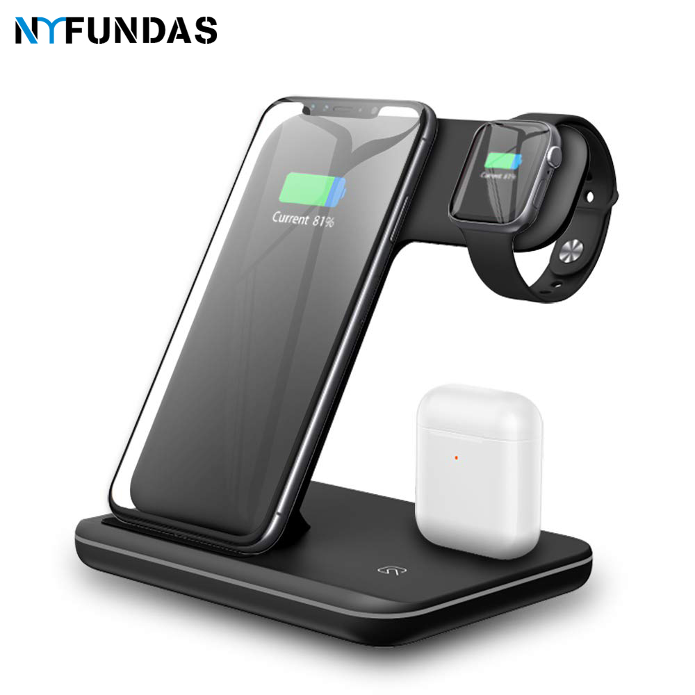 Nyfundas Station-15w Apple IPhone For Watch-Series 4-3-2/airpods XS MAX XR 8 3-In-1 Fast-Charging