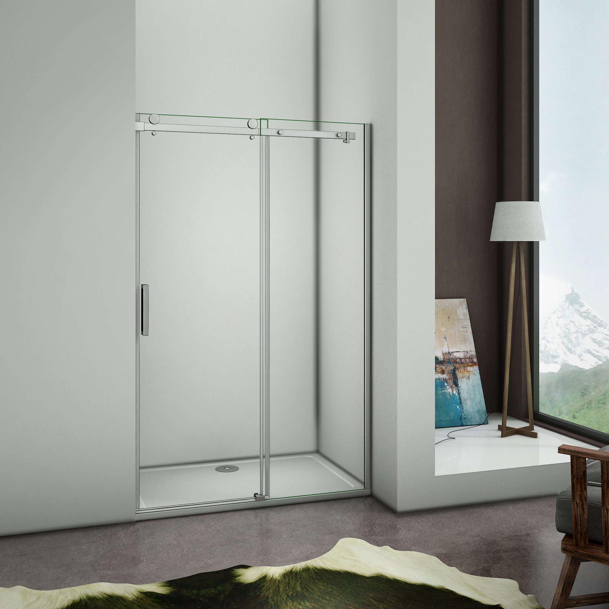 Shower Screens Sliding Elegant 8mm Anti-Calc