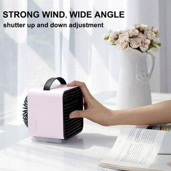 USB Mini Air Conditioner Fan Portable Negative ion Air Cooler ventilador portatil household fan Air Conditioning Fan ventilador