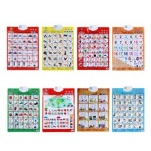 Sound Wall Chart Electronic Alphabet English Learning Machine Multifunction Preschool Toy Audio Digital Educational Children