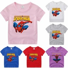 2021 Cartoon Boys T-shirt Cotton Short Sleeve Children's Clothing Summer New Children's Boys and Girls Top T-shirt