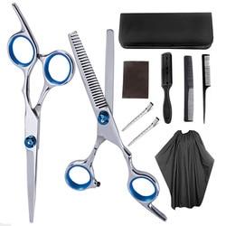 Hairdressing Scissors Professional Barber Scissors Set Hair Cutting Shears Scissor Haircut Cutting Thinning Styling Tool Shear