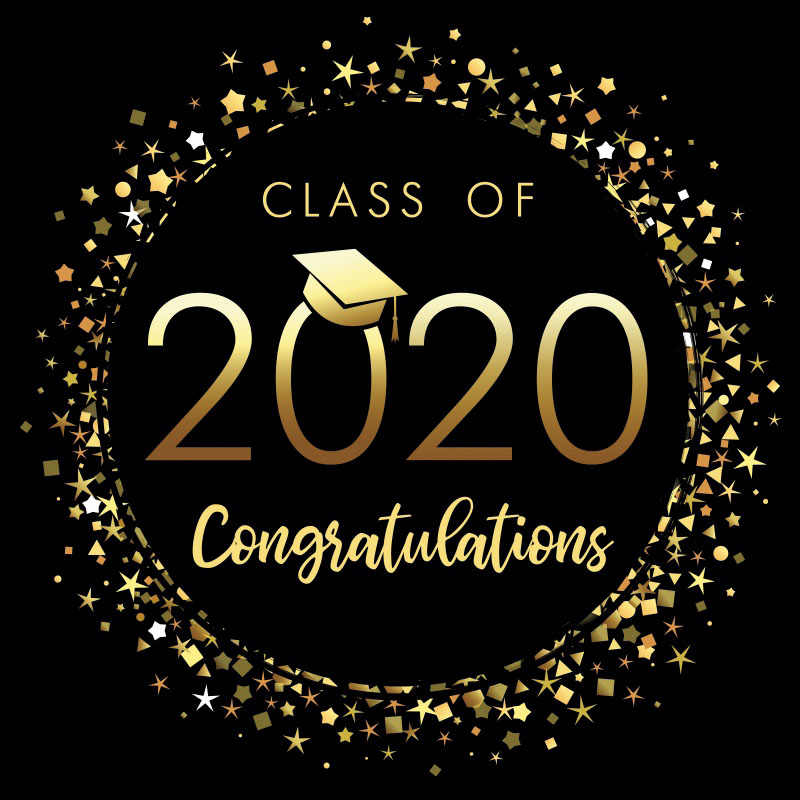 Photo Backdrop Congratulations Graduates Class Of 2020 Gold Poster ...