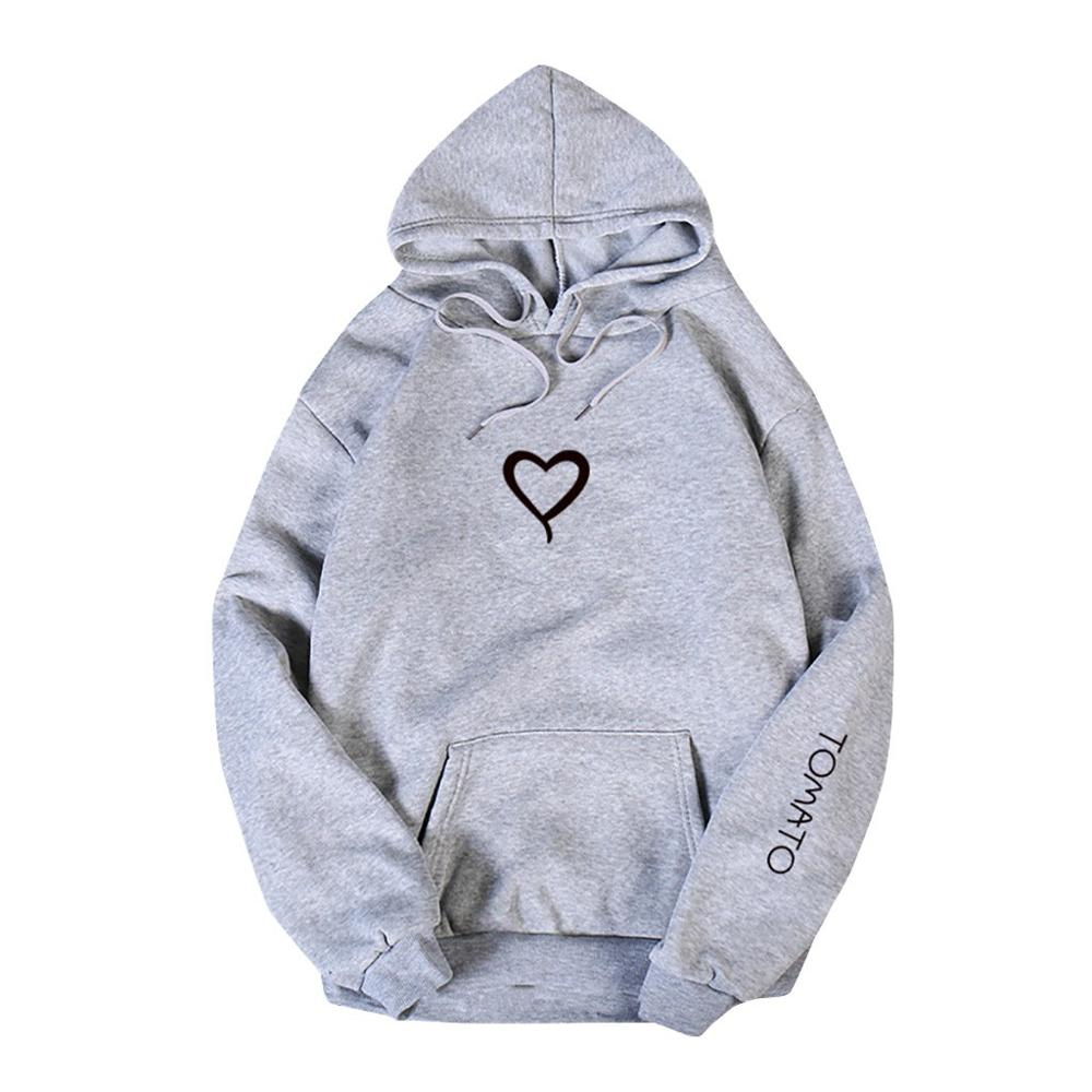 Valentine's Day Hoodies For Couples Autumn Spring Harajuku Heart Print Long Sleeve Hooded Sweatshirt Casual Pullover Tops Women 11