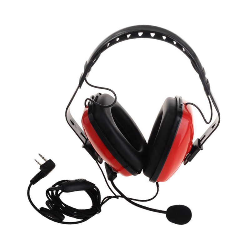 2 Pin Noise Canceling Headset Headphone With Ptt Mic For Walkie Talkie Kenwood Puxing Wouxun Baofeng