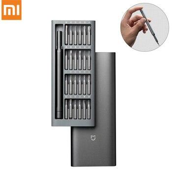 Оригинальный отвертка Xiaomi Mijia 24 в 1 прецизионный набор магнитных бит DIY отвертка для ежедневного использования ремонтные инструменты для ум...