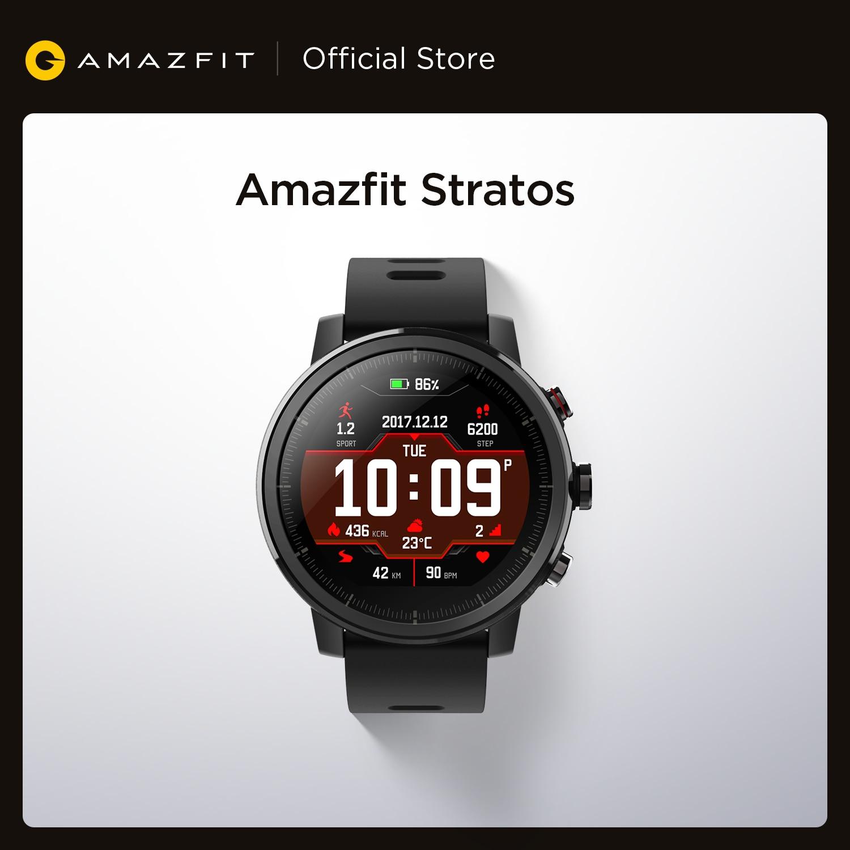מקורי Amazfit סטרטוס Smartwatch חכם שעון GPS ספירת קלוריות 50M עמיד למים עבור אנדרואיד iOS טלפון