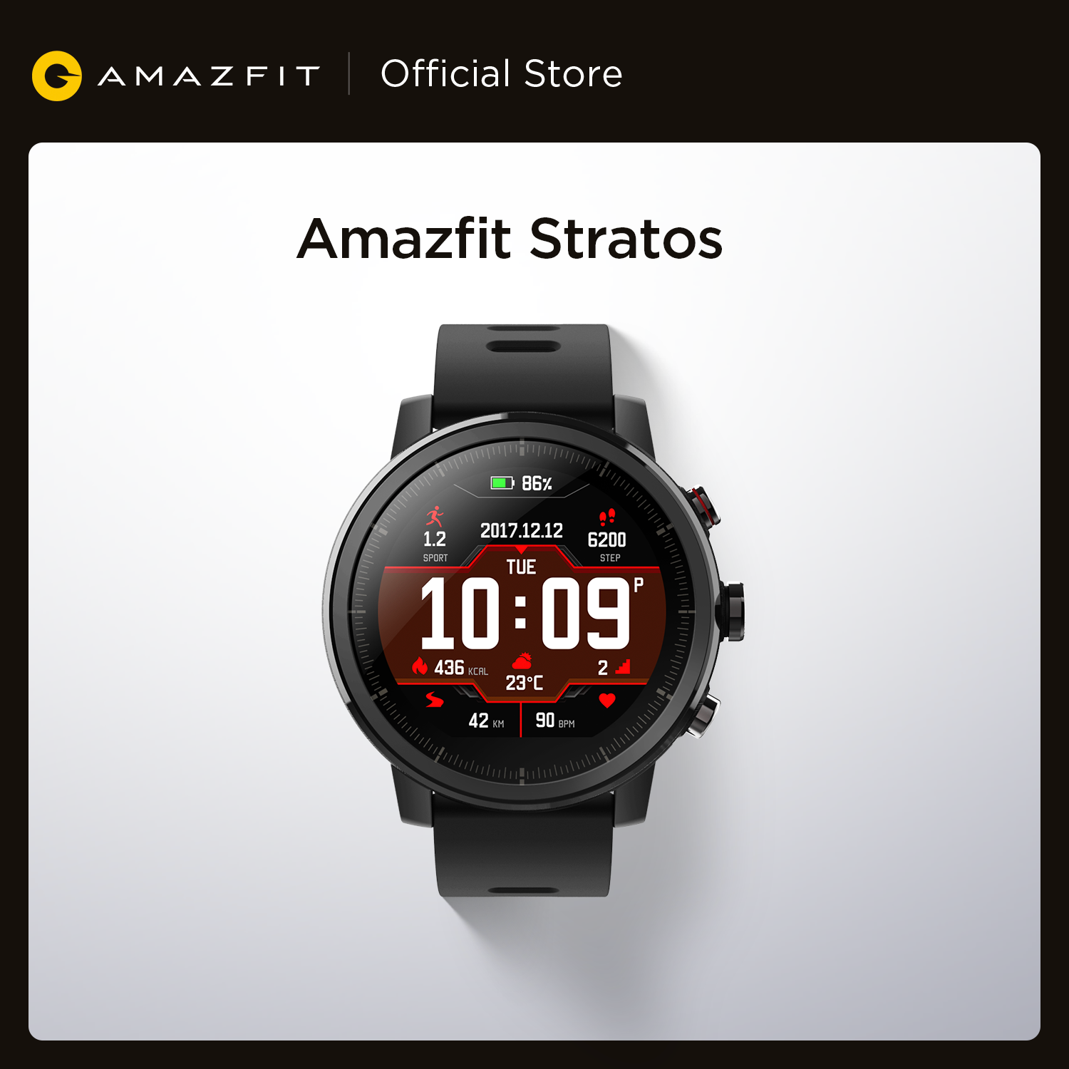 Original Amazfit Stratos Smartwatch Smart Watch Bluetooth GPS Calorie Count 50M Waterproof for Android iOS Phone|Smart Watches| - AliExpress