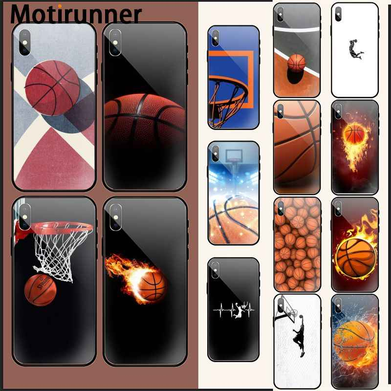 Motirunner Basket Keranjang Hitam TPU Soft Phone Case Cover UNTUK iPhone 11 Pro XS MAX 8 7 6 6S plus X 5 5S SE XR Case