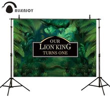 Allenjoy photo studio background lion king baby fairy birthday party supplies tropical banner backdrop for photography photocall yeele cartoon leaves monkey animals baby birthday party photography background customized photographic backdrop for photo studio