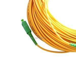 Image 4 - 送料無料 SM SX PVC 3 ミリメートル 50 メートル SC/APC 光ファイバジャンパーケーブル SC/APC SC/ APC 光ファイバパッチコード