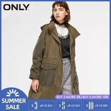 ONLY new Collared Big pocket tooling trench Long coat