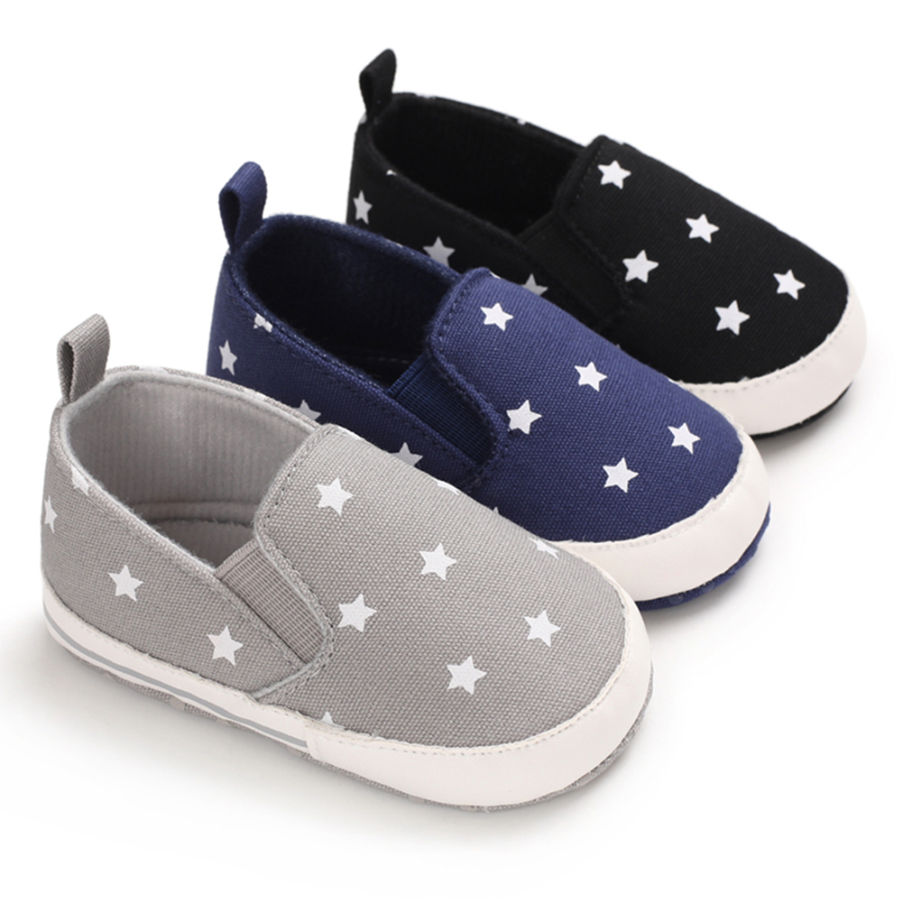Baby Shoes Toddler Boys Girls Casual Star Sneaker Cotton Soft Anti-Slip Sole Newborn Infant First Walkers Canvas Crib Shoes