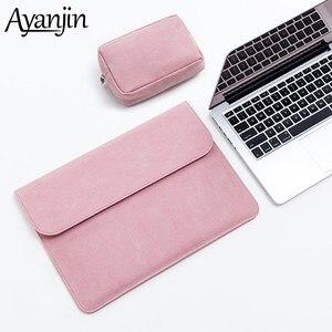 Image 1 - Sac Slim en cuir pour ordinateur portable 13.3 à manches 15.4 16 pouces, pour Xiaomi Macbook Air, housse 11 12 Pro 15, housse pour HP Pavilion X360 13