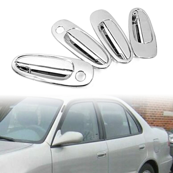 4Pcs Chrome Car Exterior Side Door Handle Cover Trim For Toyota Corolla AE100 1993-1997 & For 1996-2000 Toyota RAV4 image