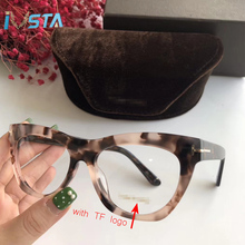 IVSTA Top Quality TF 5559 Optical Glasses Frame Women Handmade Acetate Luxury Brand Designer Prescription Lenses Myopia for Sight Cat Eye Pink Flower Optometry with logo Spectacles Butterfly Retro Vintage Fashion