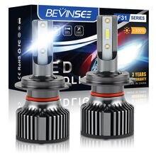 Bevinsee F31B Led H7 H11 9005 HB3 9006 CSP 6000LM H4 H7 HB4 9012 Lâmpadas LED Canbus Lâmpada 6000K 50W Farol Do Carro Luz de Nevoeiro