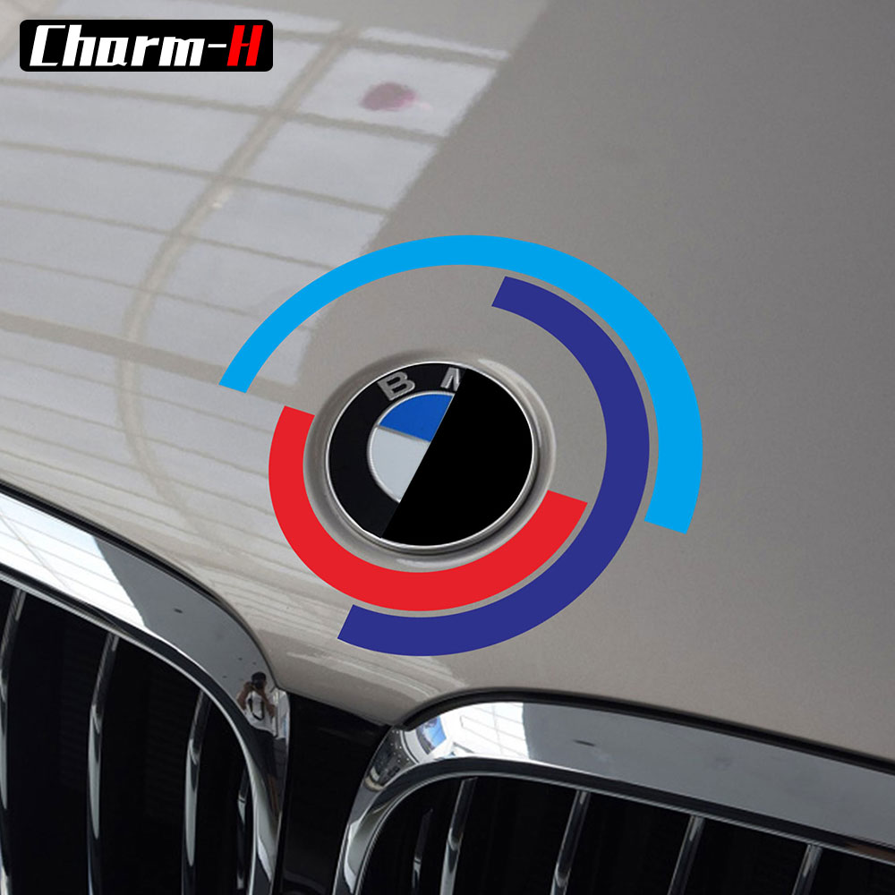Car Hood Bonnet <font><b>Logo</b></font> <font><b>Emblem</b></font> Decal <font><b>Stickers</b></font> for <font><b>BMW</b></font> e60 e90 e36 e46 e39 X5 E53 e70 f30 <font><b>f10</b></font> f20 g30 g20 g01 x3 x6 z4 accessories image