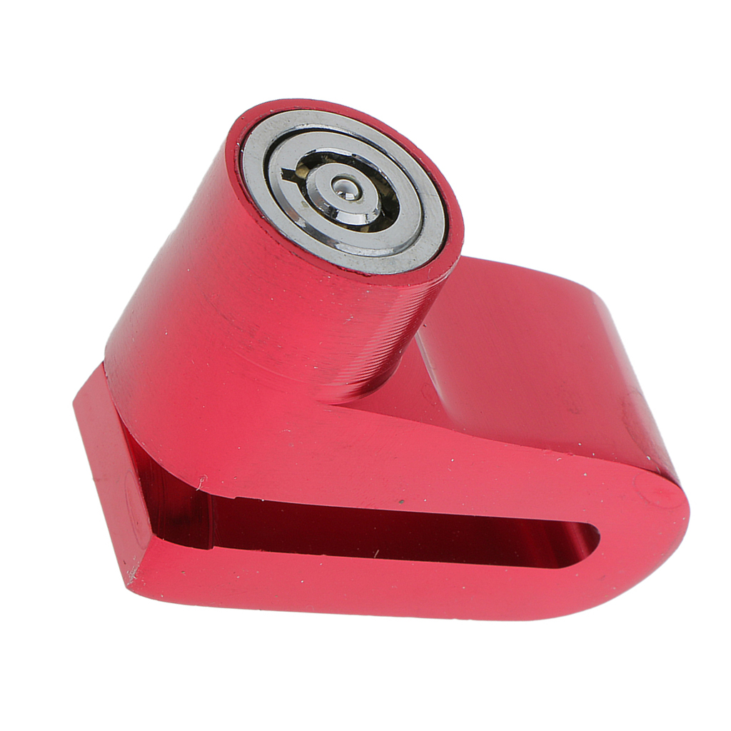 Anti-Theft Sercurity Lock Brake Locking Universal Fits For Bikes Motorcycles Red image