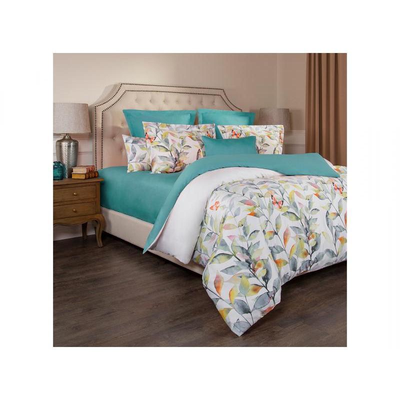 Bedding Set double SANTALINO, Harmonica, White/Turquoise цена