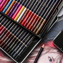 Watercolor Pencils Drawing School-Supplies Lapis-De-Cor Professional 72 Art 48 for Iron-Box