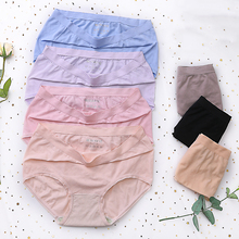 New Arrival Women Sweet Cartoon Solid Color Mid Waist Soft Cotton Briefs Modern Stretch Panties