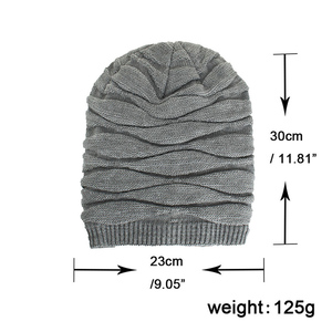 Image 5 - TOHUIYAN Crochet Beanie Hat For Men Slouchy Autumn Winter Hats Fashion Skull Knitted Cap Hip Hop Thick Warm Caps Baggy Women Hat