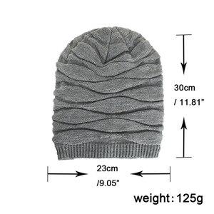 Image 5 - TOHUIYAN szydełkowa czapka kapelusz dla mężczyzn Slouchy jesień czapki zimowe moda czaszka czapka z dzianiny Hip Hop grube ciepłe czapki Baggy kobiety kapelusz