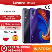 Version mondiale Lenovo Z5s Snapdragon 710 Octa Core 64GB SmartPhone Face ID 6.3 AI Triple arrière caméra Android P téléphone portable