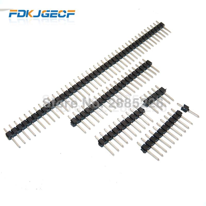 10Pcs 2.54mm Single Row Male 2~40P PCB Board Pin Header Connector Strip Pinheader 2/3/4/5/6/8/10/12/20/40Pin For Arduino