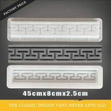 45 cm/17,72 in Muslimischen Traditionellen Garten Pfad Zement 3D Carving Geo Design Starke ABS Beton Ziegel Anti Slip klassische Fliesen Form